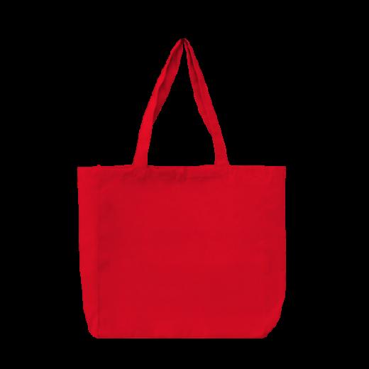 bawełniana torba stębnowana czerwona