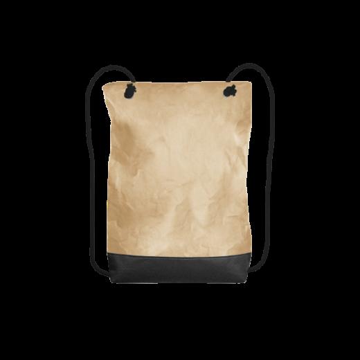 beżowy plecak z washable paper na zamek