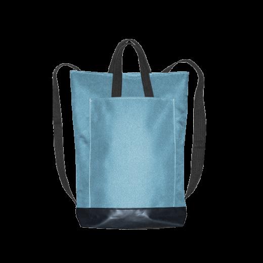 błękitny plecak city z kieszenią