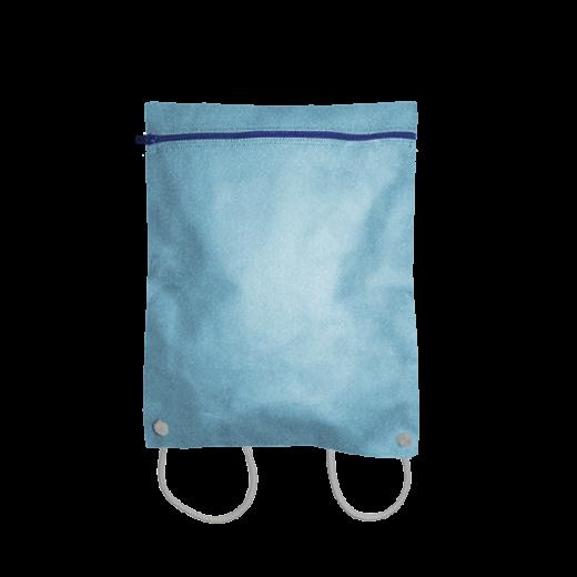 błękitny plecak koperta