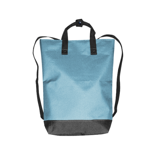 błękitny plecak urban na zamek