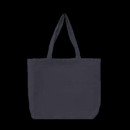 ciemno szara torba stębnowana