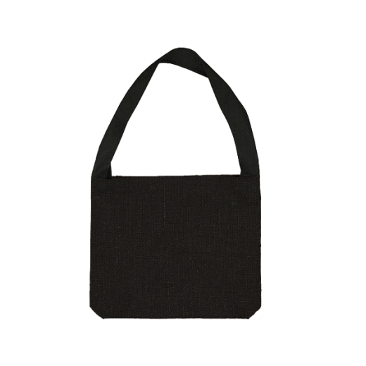 czarna torba bawełniana z jedną rączką