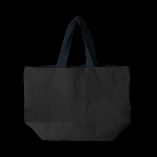 czarna torba pozioma bawełniana