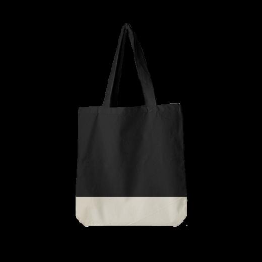 czarna torba standard z jasnym dnem