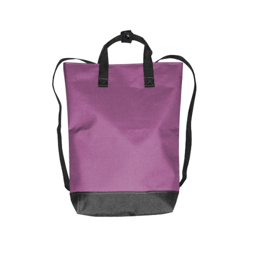 Fioletowy plecak urban z kodury