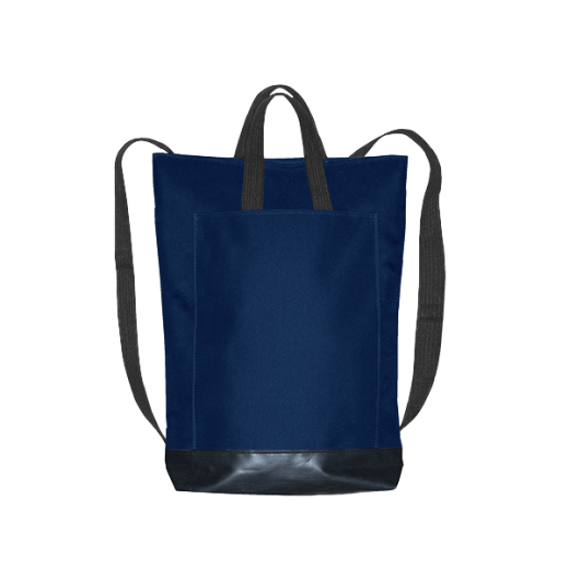 granatowy plecak city z kieszenią