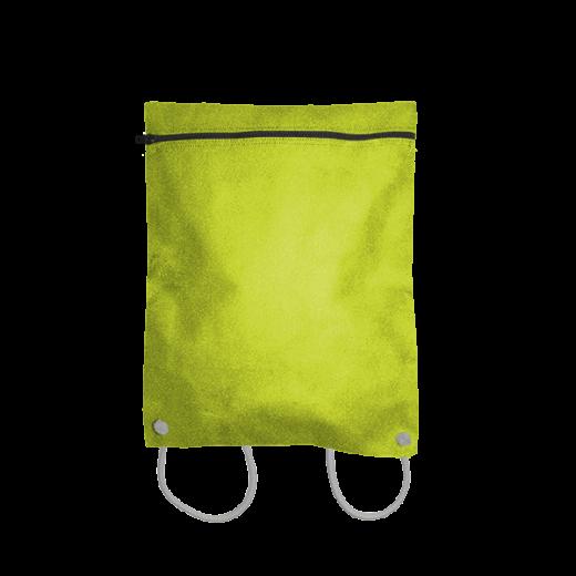 kanarkowy plecak z koperty na sznurkach
