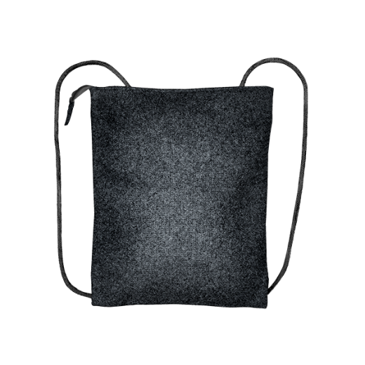 plecak biznes z czarnego filcu