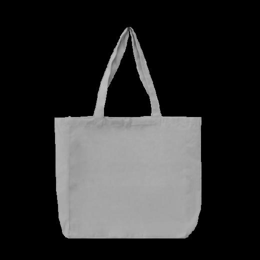 torba bawełniana stębnowana szara