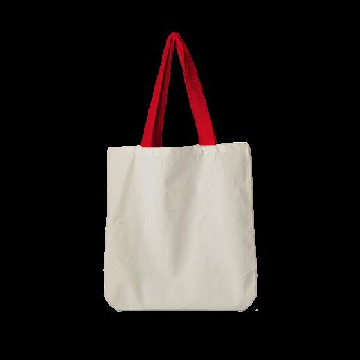 torba standard bawełniana z czerwonymi rączkami