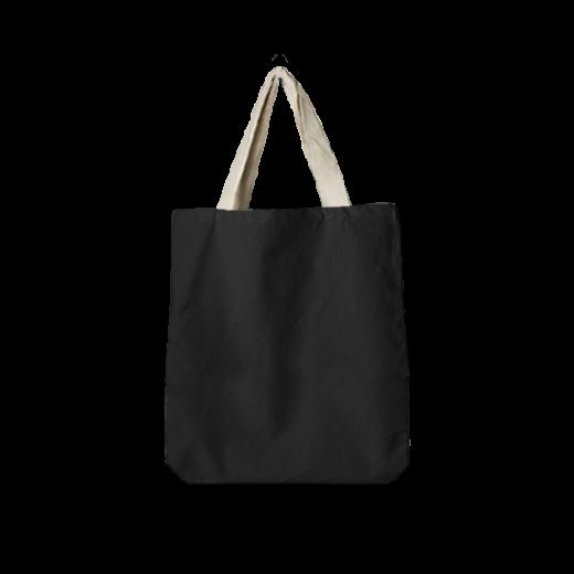 bawełniana torba oversize dwukolorowa (czarna i ecri)