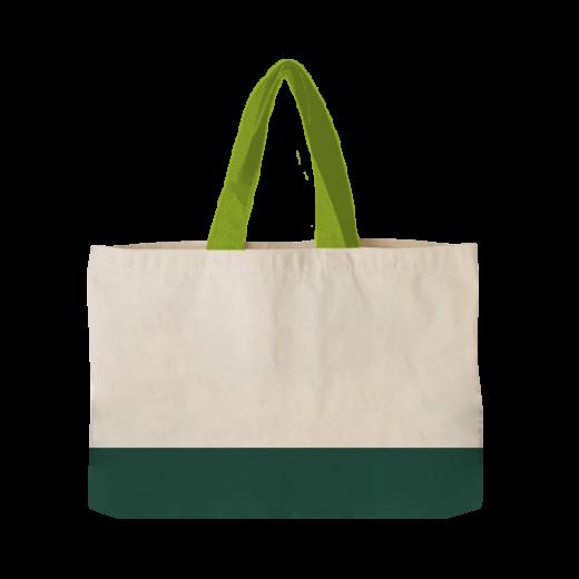 torba pozioma ecri z zielonym dnem