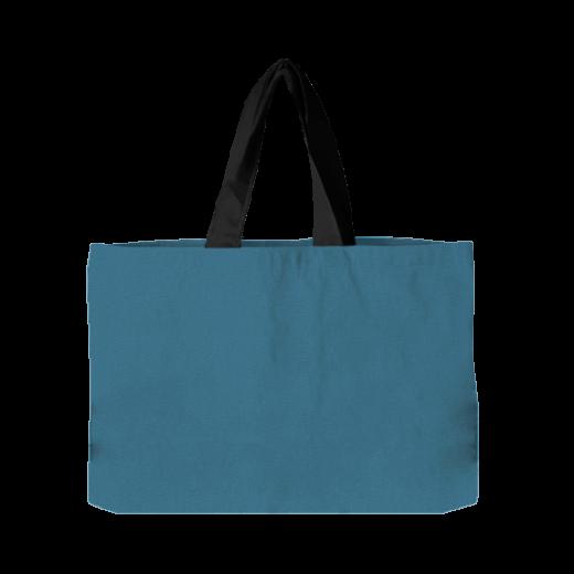 torba pozioma niebieska z czarnymi rączkami