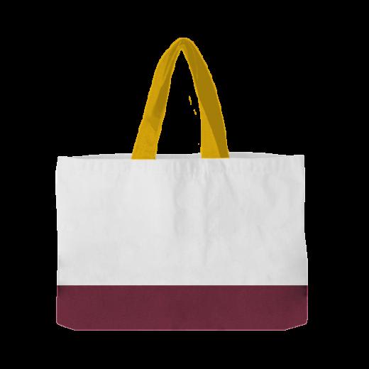 torba pozioma z żółtymi rączkami