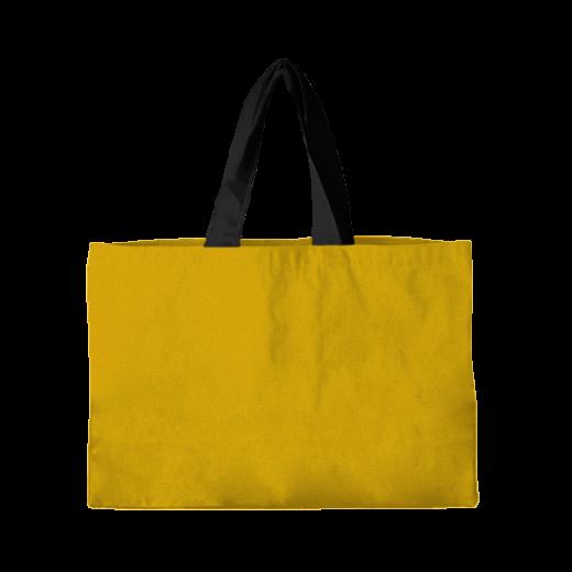 torba pozioma żółta z czarnymi rączkami
