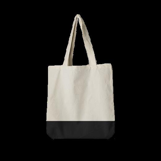 torba bawełniana standard ecri z czarnym dnem