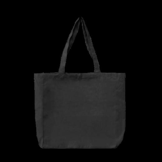 torba stębnowana z bokami i dnem czarna