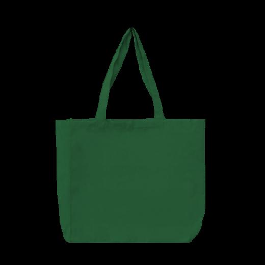 torba bawełniana stębnowana zielona