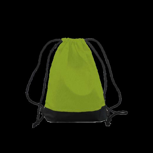worek na plecy z poliestru zielony