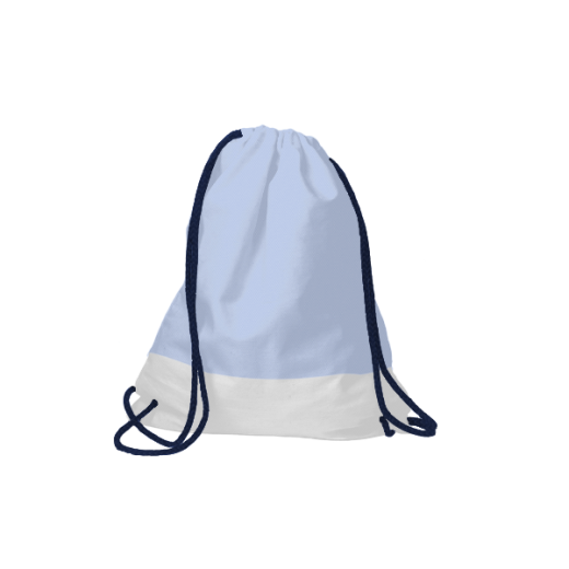 worek na sznurkach błękitny