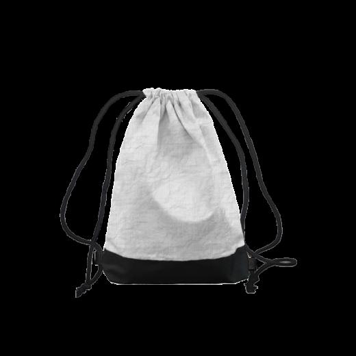 worek z tyveku na plecy biało-czarny