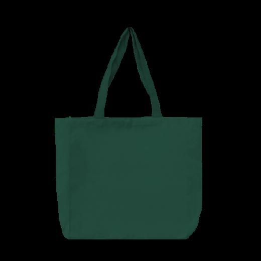 zielona torba stębnowana bawełniana